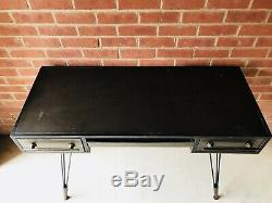 Vintage Industrial Writing Desk Home Office Furniture Computer PC Metal Table