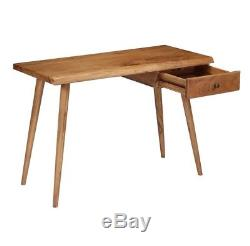 Vintage Retro Writing Desk Office Pc Computer Drawer Table Furniture Wood Rustic