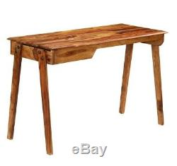 Vintage Writing Desk 1 Drawer Office Computer Table Retro Style Furniture Wooden