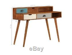 Vintage Writing Desk Office Computer Laptop Table Retro Furniture 4 Drawers