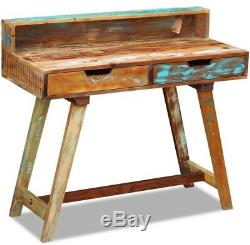 Vintage Writing Desk Retro Office Furniture Rustic Solid Wood Computer PC Table