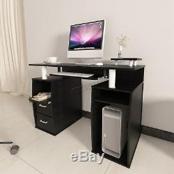 WestWood Computer Desk PC Table With Shelves Drawers Home Office Study CD05