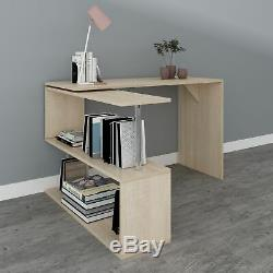 WestWood Rotary L-Shape Corner Computer Desk Home Office Table with Shelf CD18