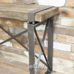 Wood Effect Industrial Side Table Distressed Retro Console Dresser Computer Desk