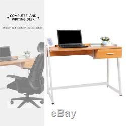 Wooden Computer Desk PC Table Small Workstation Home Office Writing Furniture UK