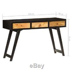 Wooden Writing Computer Desk Home Office Rustic Dressing Table with 3 Drawers