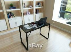 Workstation Computer PC Desk with Metal Legs Home Office Student Writing Table