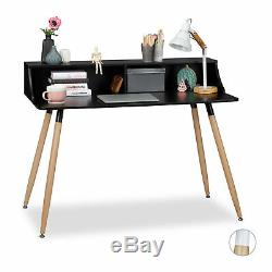 Writing Desk White Wood Wooden Office Furniture Desk 2 Compartments Nordic Table