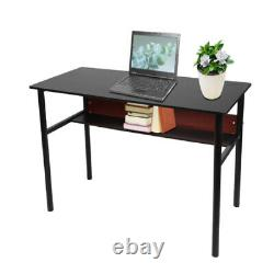 Writing Study PC Computer Desk Table Office Home Workstation Wooden & Metal